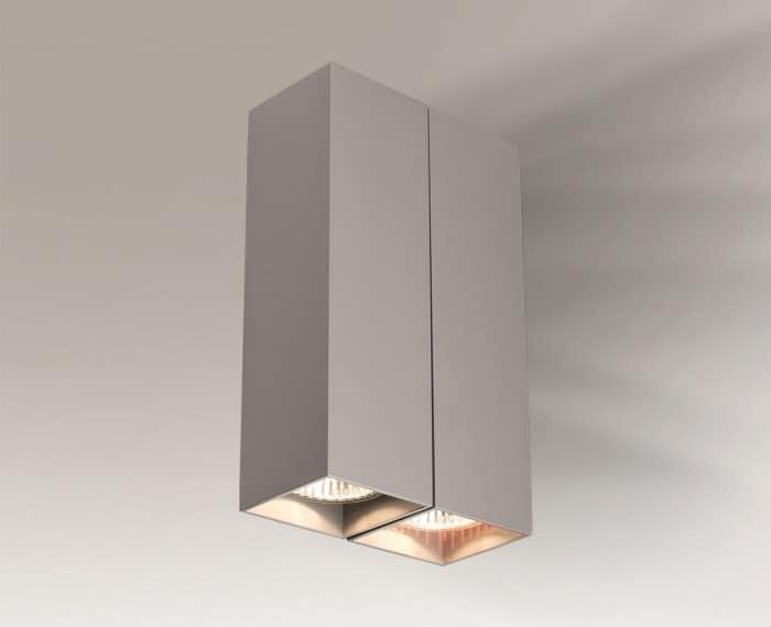 Dvojitá nástěnná lampa kvádr Shilo OZU 4442