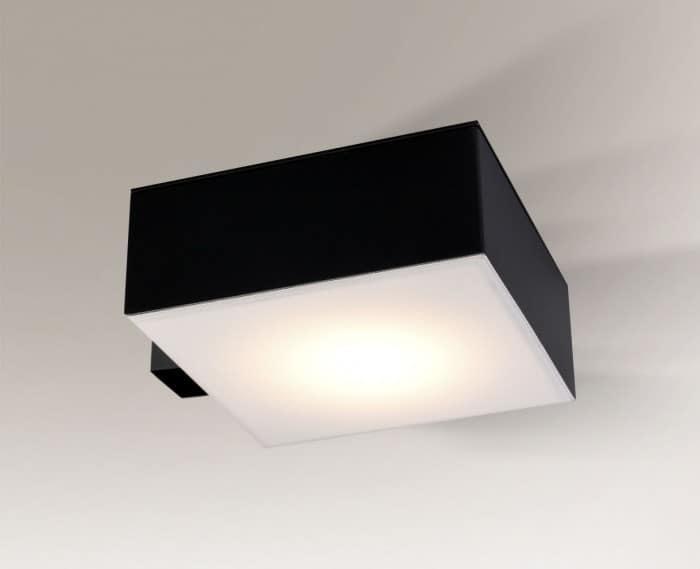 Čtvercová nástěnná lampa Shilo Zama 4448-Led