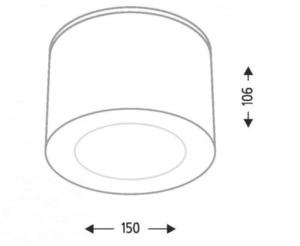Kulatý povrch Shilo TAMBA 1139-GU10 small 1