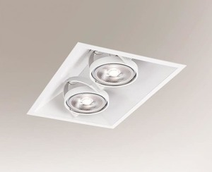 Bílé zapuštěné světlo SANO 3371 GU10 50W small 0