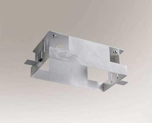 Hliníková montážní krabice KOMORO 3340 dvoubodové svítidlo