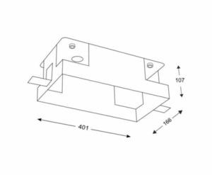 Hliníková montážní krabice KOMORO 3340 dvoubodové svítidlo small 1