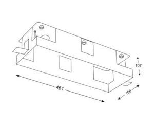 Montážní krabička hliníková trojitá lampa KOMORO 3341 small 1