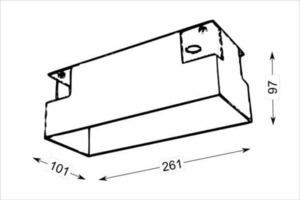 Montážní skříň OMURA 3338 pro tříbodovou lampu, bezšroubová instalace lamp small 1