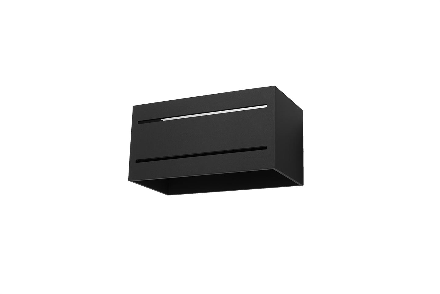 Černá Nástěnná lampa LOBO MAXI 2 černá SL.0533