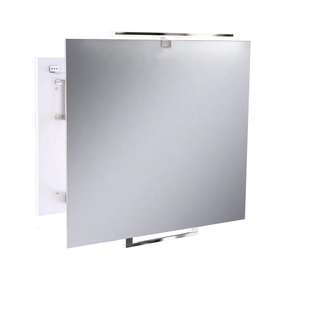 Tělo bílé držadlo chrom Nastavitelné zrcadlo FABIOS 80 LED SL.0588