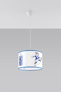 Bílá a modrá Závěsná lampa KKS LECH POZNAŃ 30 SL.0724 small 1