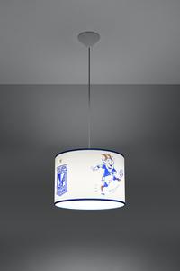 Bílá a modrá Závěsná lampa KKS LECH POZNAŃ 30 SL.0724 small 2