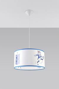 Bílá a modrá Závěsná lampa KKS LECH POZNAŃ 40 SL.0725 small 1
