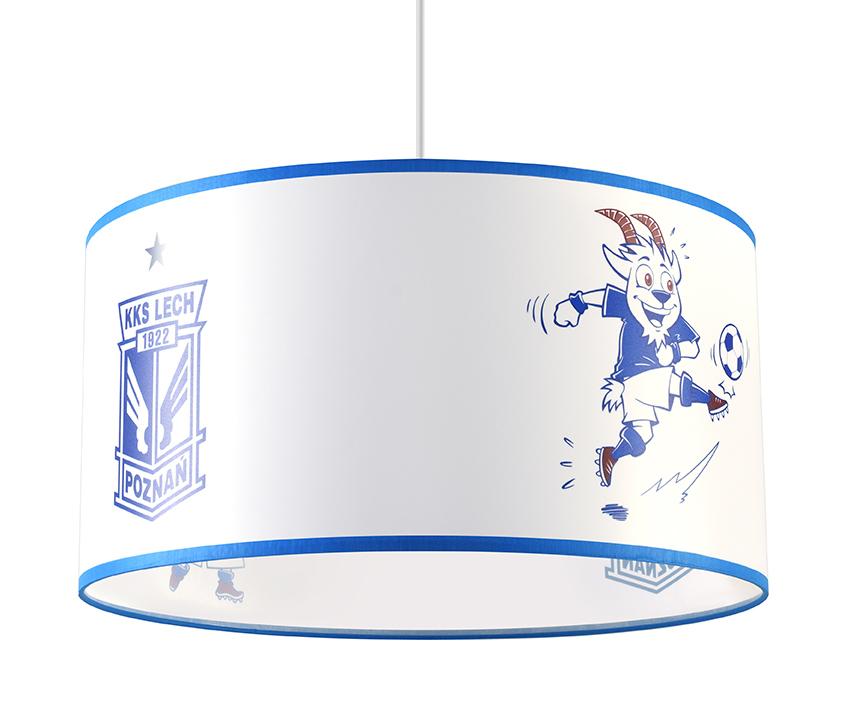 Bílá a modrá Závěsná lampa KKS LECH POZNAŃ 40 SL.0725