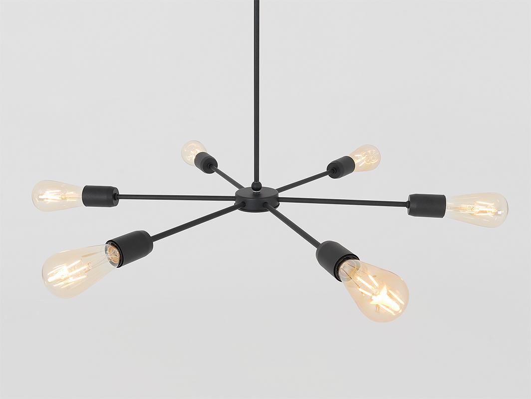 Závěsná lampa CROSER LINE - černá