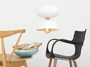 Závěsná lampa WOMAN S - bílá small 1