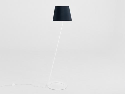 Stojací lampa SHADE FLOOR - bílý, černý odstín