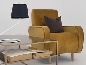 Stolní lampa SHADE TABLE - bílý, černý odstín small 1