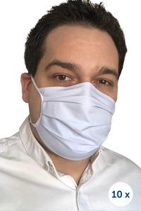 Ochranná bavlněná maska na popruhy 10 kusů modrá small 0