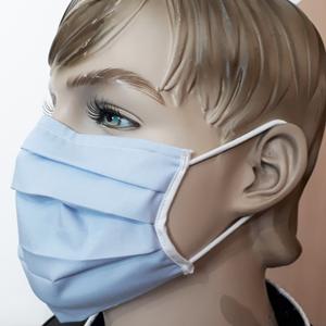 Bavlněná maska pro opakované použití na modrých pásech small 8