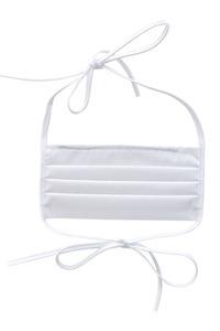 Bílá - opakovaně použitelné bílé bavlněné filtrační masky 5 kusů small 3