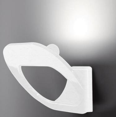 Fabbian DOMINA bílá nástěnná lampa