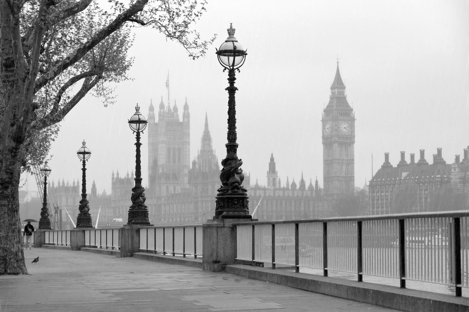 Fototapeta Londýn, černá a bílá, Westminsterské opatství, Big Ben