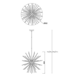 VNITŘNÍ SVÍTIDLO (ZÁVĚS) ZUMA LINE URCHIN PENDANT P0491-09F-F4AN small 3