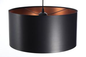 Černá měděná závěsná lampa LEXIE E27 60W latex, satén small 3