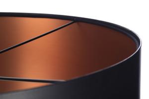 Černá měděná závěsná lampa LEXIE E27 60W latex, satén small 4