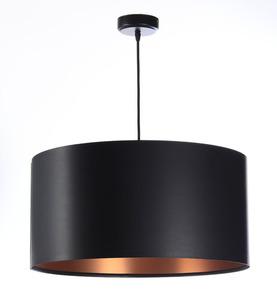 Černá měděná závěsná lampa LEXIE E27 60W latex, satén small 0