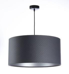 Přívěsek lampa E27 60W válec grafit stříbrný small 0