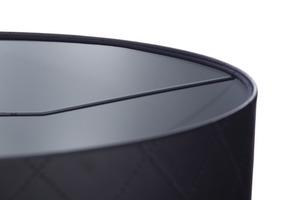 Kožená prošívaná lampa E27 60W váleček černá stříbrná small 4