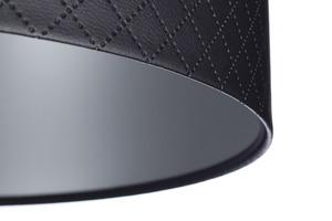 Lampa Kůže prošívaná diamanty E27 60W černá stříbrná small 1