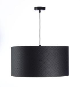 Lampa Kůže prošívaná diamanty E27 60W černá stříbrná small 2