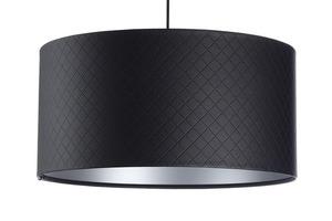 Lampa Kůže prošívaná diamanty E27 60W černá stříbrná small 7