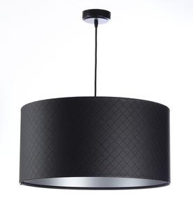 Lampa Kůže prošívaná diamanty E27 60W černá stříbrná small 0