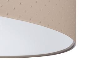 Závěsná lampa nad kůží E27 60W prošívané tečky, béžová, bílá small 1