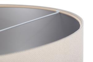 Moderní závěsná lampa Kožená čalouněná E27 60W, krémová, stříbrná small 4