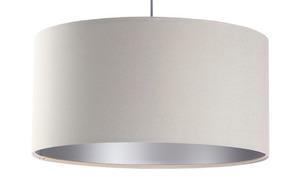 Moderní závěsná lampa Kožená čalouněná E27 60W, krémová, stříbrná small 6