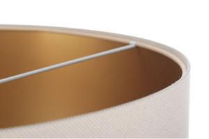 Závěsná lampa nad koženým stolem E27 60W, béžová, zlatá small 4
