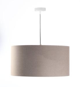 Moderní kožená závěsná lampa E27 60W čalouněná, béžová, měď small 2