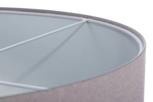 Čalouněná kožená lampa, šedá E27 60W small 4