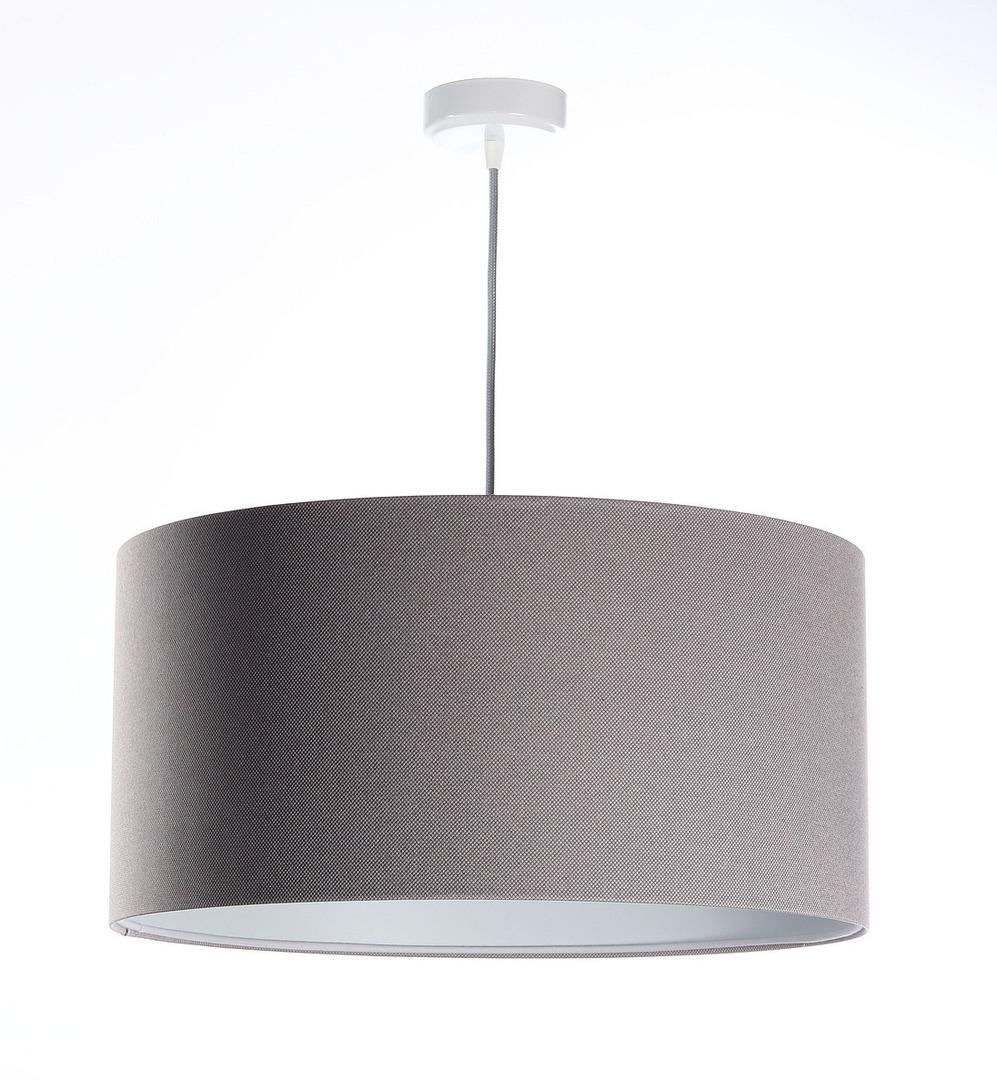 Čalouněná kožená lampa, šedá E27 60W