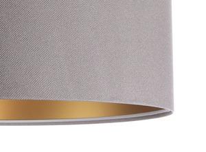 Závěsná lampa s odstínem kůže šedá, zlatá E27 60W small 1