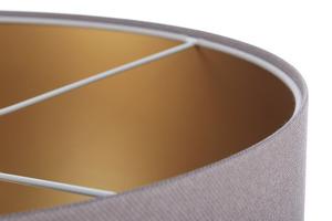 Závěsná lampa s odstínem kůže šedá, zlatá E27 60W small 4