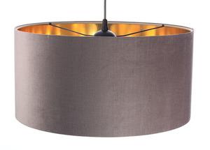 Lustr kulatý lustr 60W E27 tmavě béžový, zlatý, čalouněný small 3