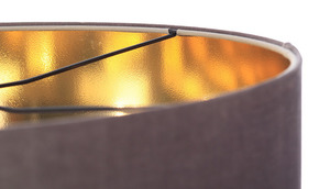 Lustr kulatý lustr 60W E27 tmavě béžový, zlatý, čalouněný small 4