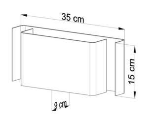 Bílá nástěnná lampa SCATOLA SL.0426 small 3