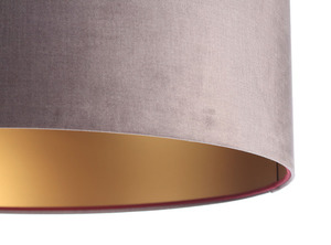 Lampa Kůže 60W E27 tmavě béžová, zlatá, vínová, sametová látka small 1