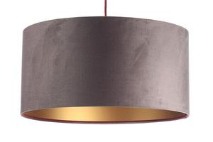 Lampa Kůže 60W E27 tmavě béžová, zlatá, vínová, sametová látka small 7