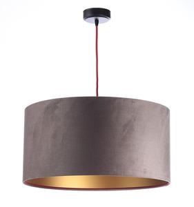 Lampa Kůže 60W E27 tmavě béžová, zlatá, vínová, sametová látka small 0