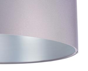 Šedá závěsná lampa Kožená 60W E27 saténová, stříbrná small 1