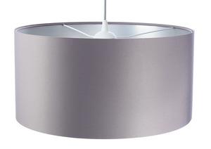 Šedá závěsná lampa Kožená 60W E27 saténová, stříbrná small 3